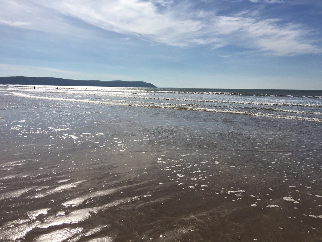 woolacombe beach in sunny weather