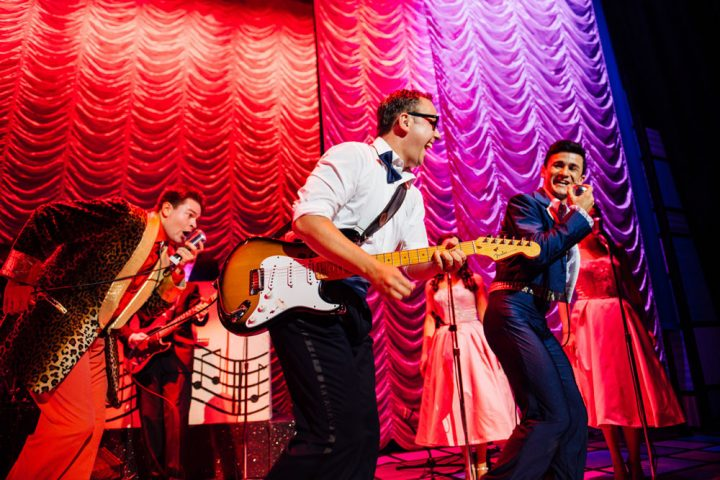 Buddy Holly on stage