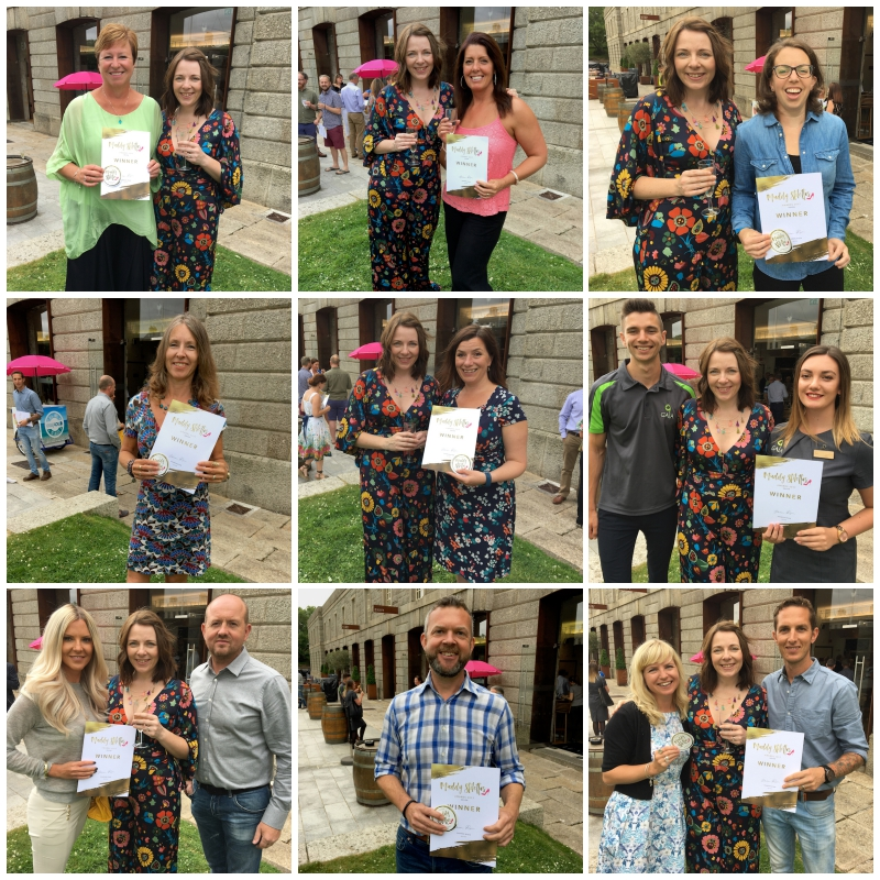 collage of people holding certificates