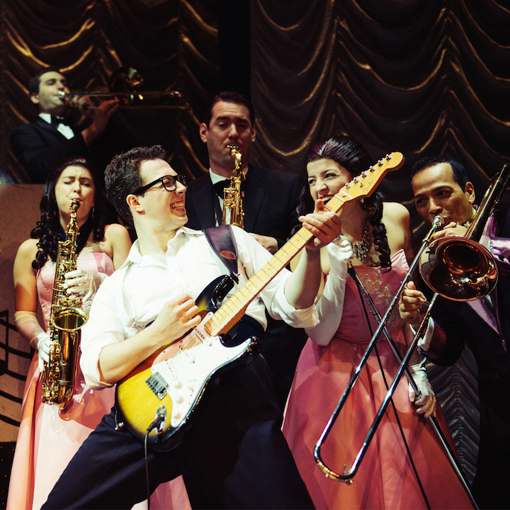 Buddy Holly musical on stage