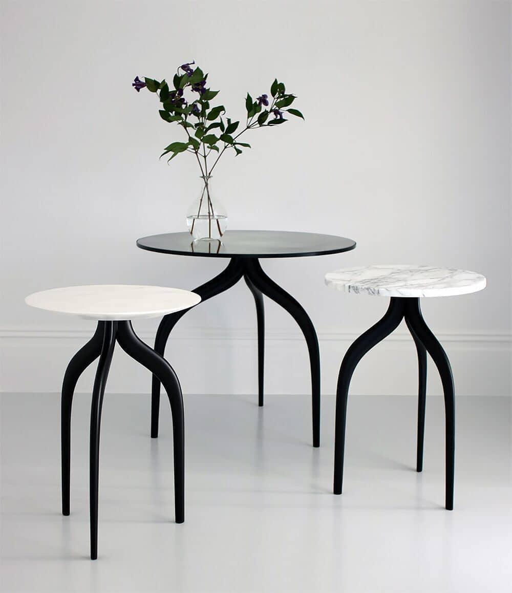 side tables and plant