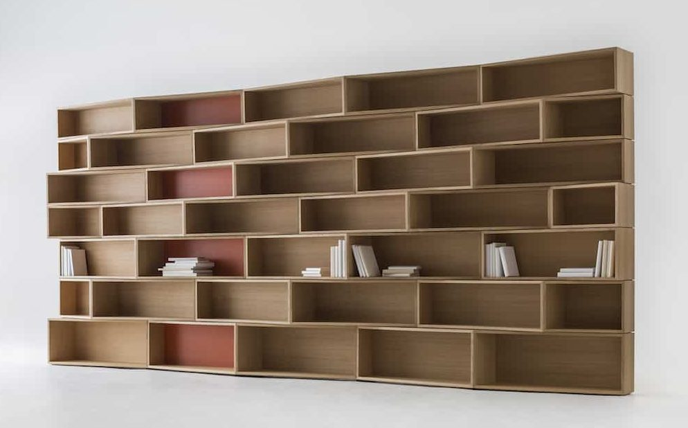 funky wooden shelves