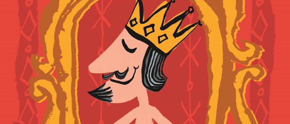 illustration of a king in the emperors new clothes