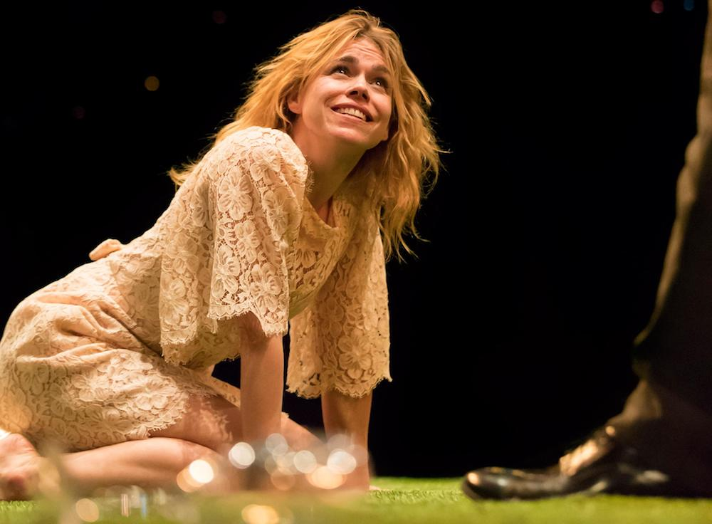 billie piper on stage in yerma