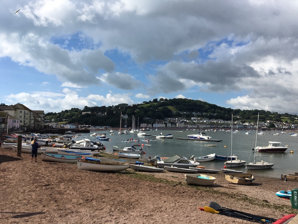 Back Beach Teignmouth with boats