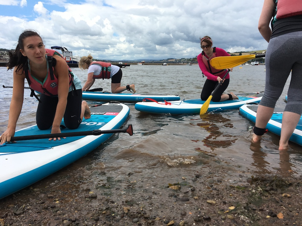 Back beach teignmouth stand up paddleboarding