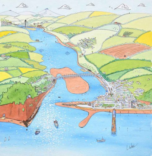 artwork of the river teign