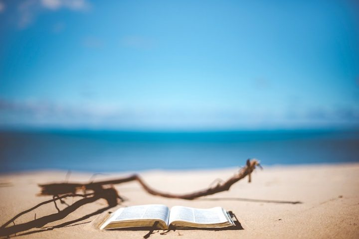 book by beach