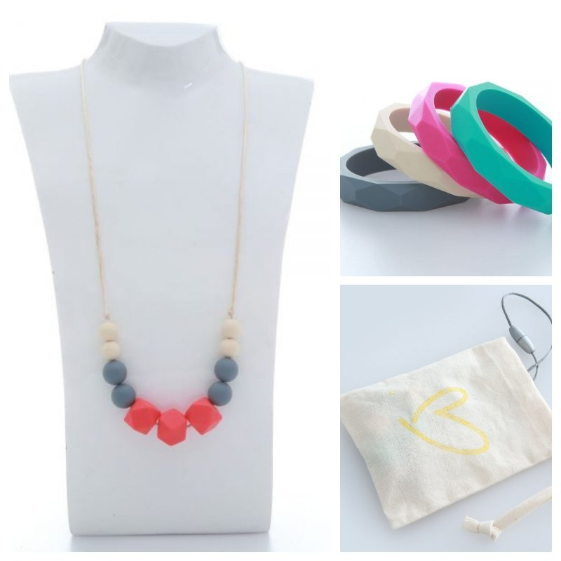 teething necklaces and bangles