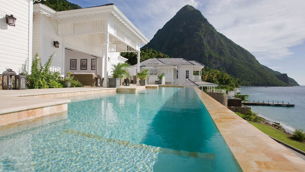 mountains, pool, villa
