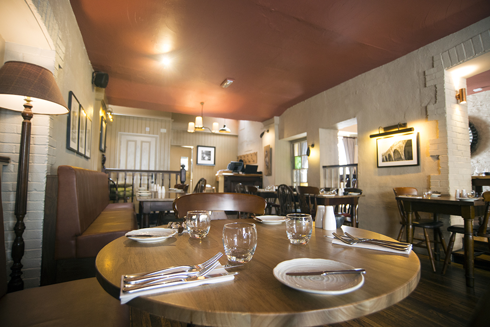Interior of restaurant at the Cornish Arms Tavistock