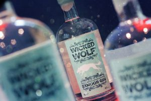 Wicked wolf gin bottles