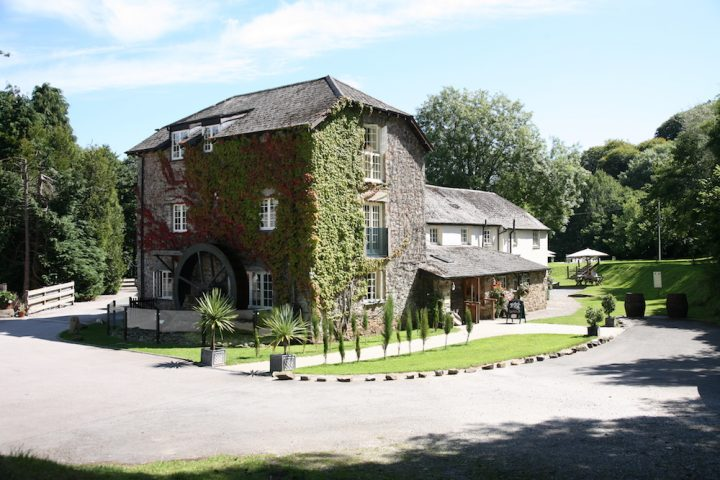 Exterior with water wheel