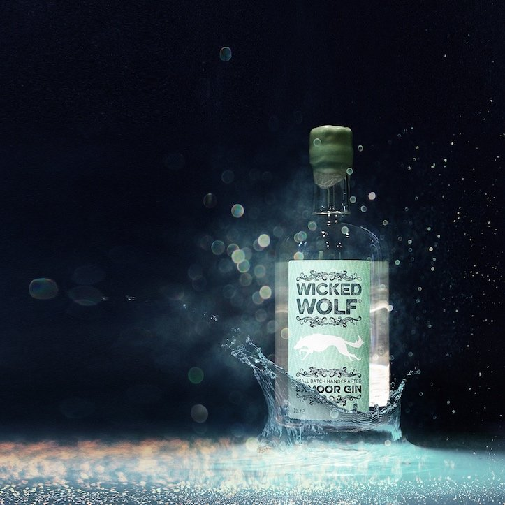 Wicked wolf gin bottle