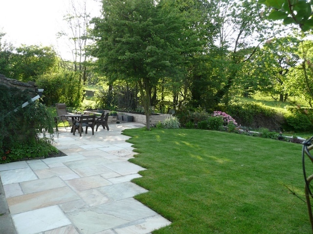 garden and paving