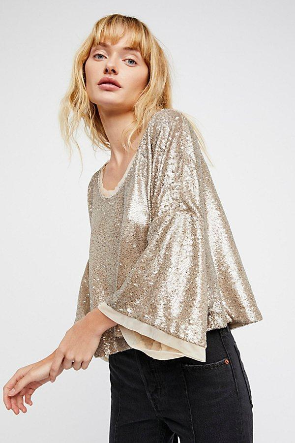 Lorna Ruby Champagne Sequin Top