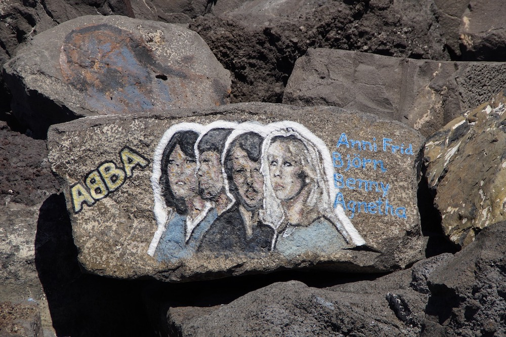 Abba on a stone