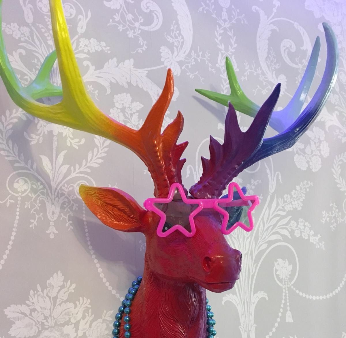 The 25 rainbow stag head