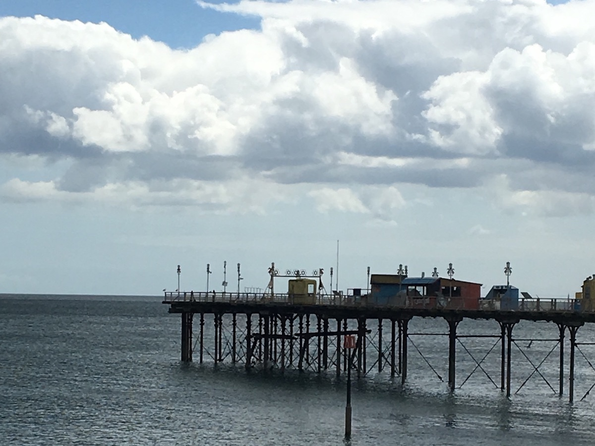 victorian pier clouds sea sky