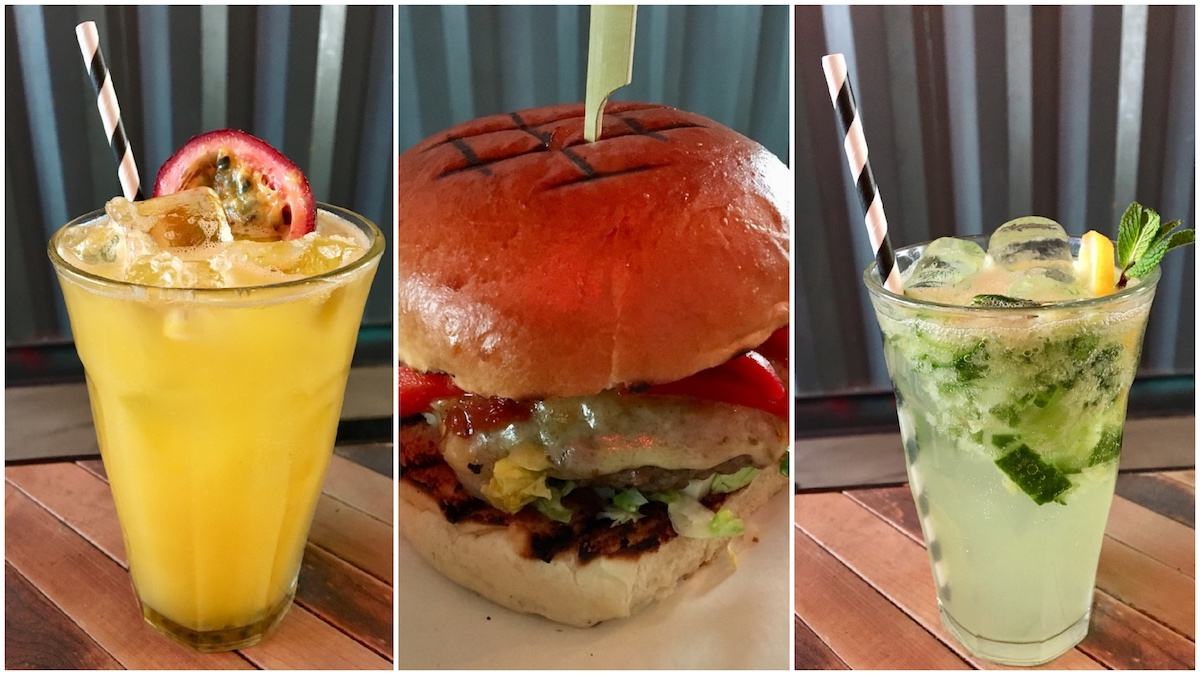 yellow juice green juice burger mint
