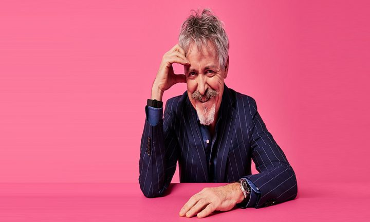griff rhys jones on pink background