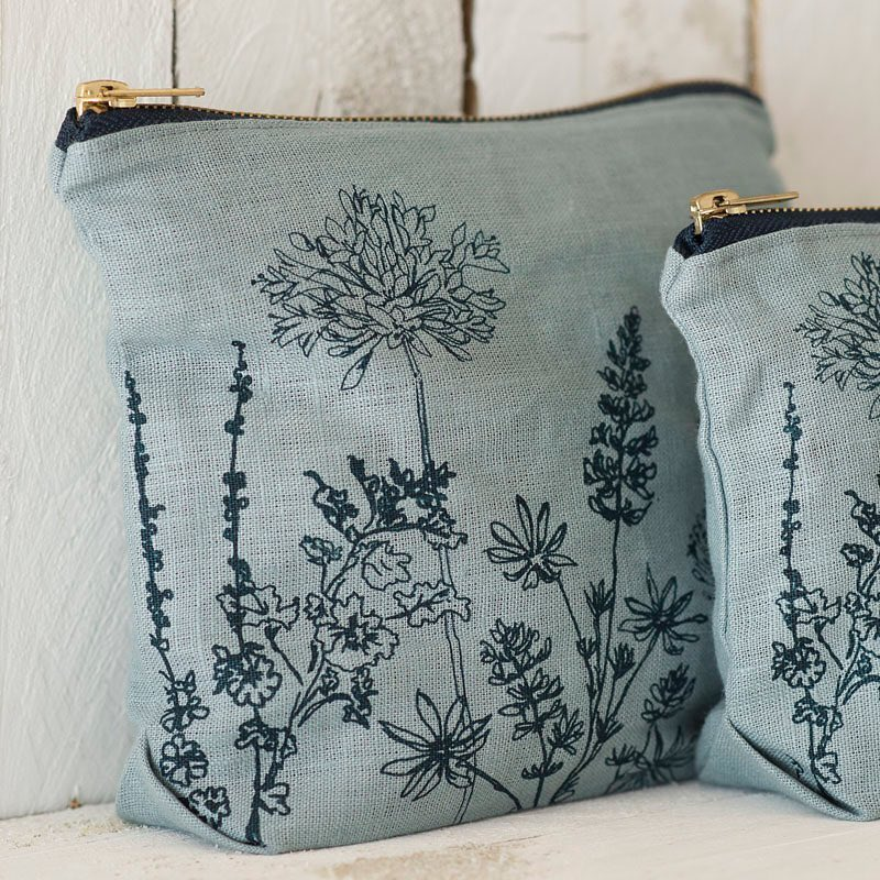 canvas bag with plant print