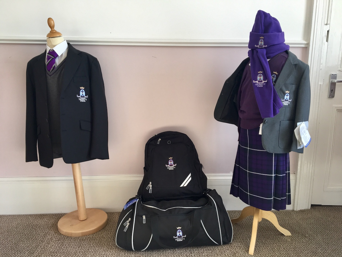 purple school uniform