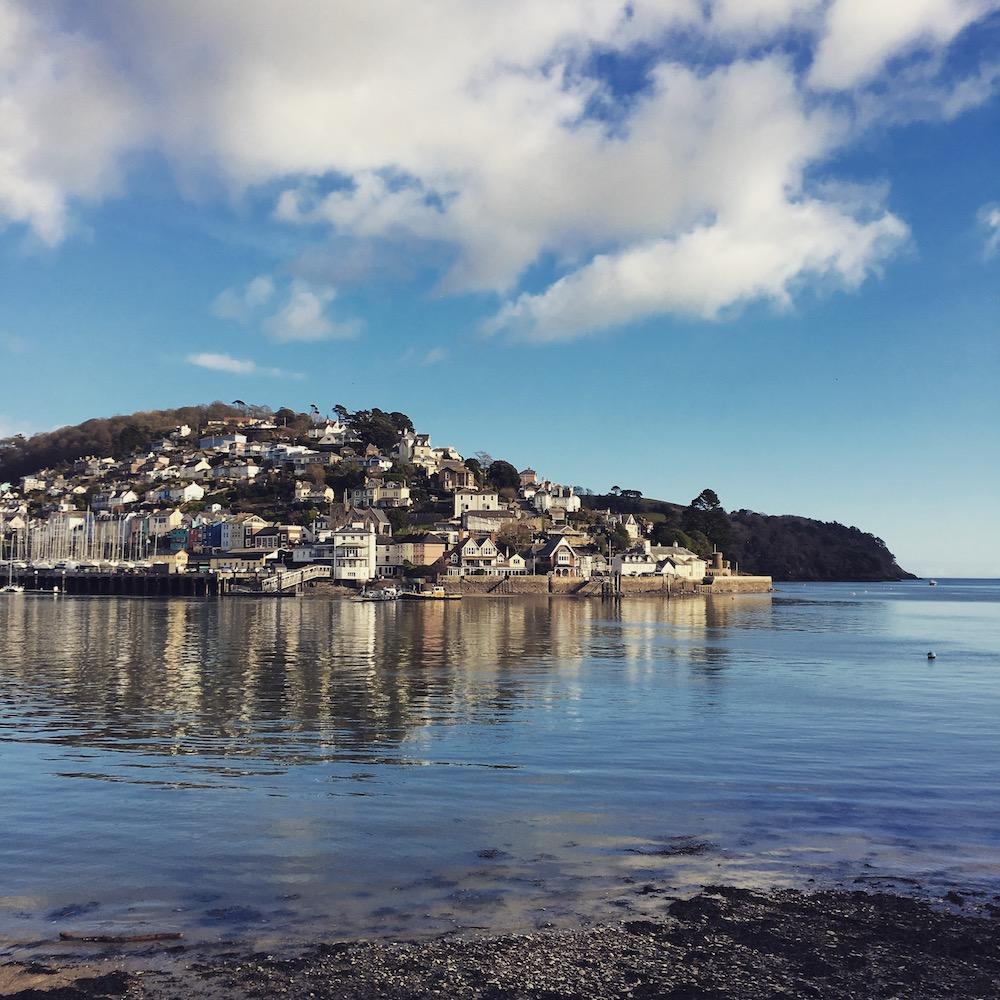 dartmouth coastal view blue sky