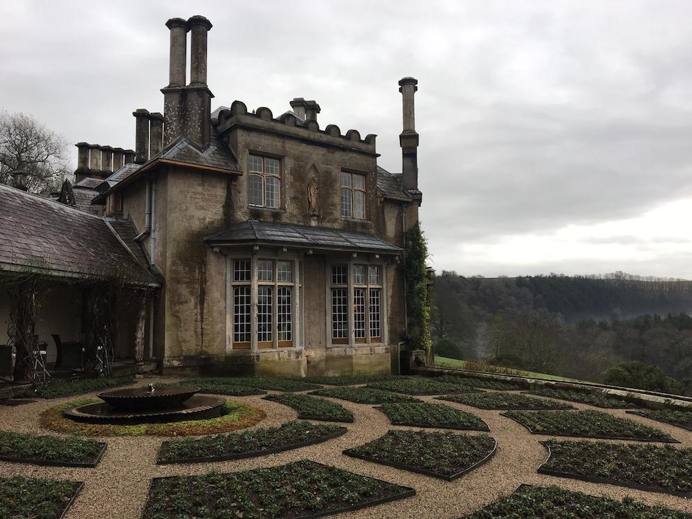 country house hotel gardens mist