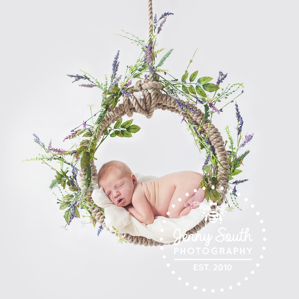 baby in willow ring