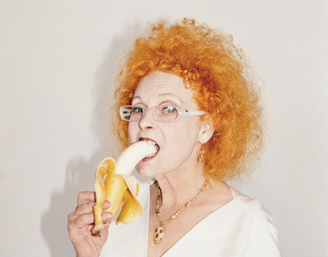 Vivienne westwood eating banana