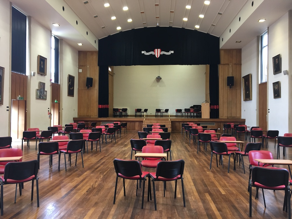 school hall interior