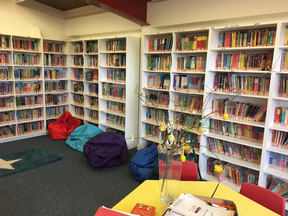 interior children's school library