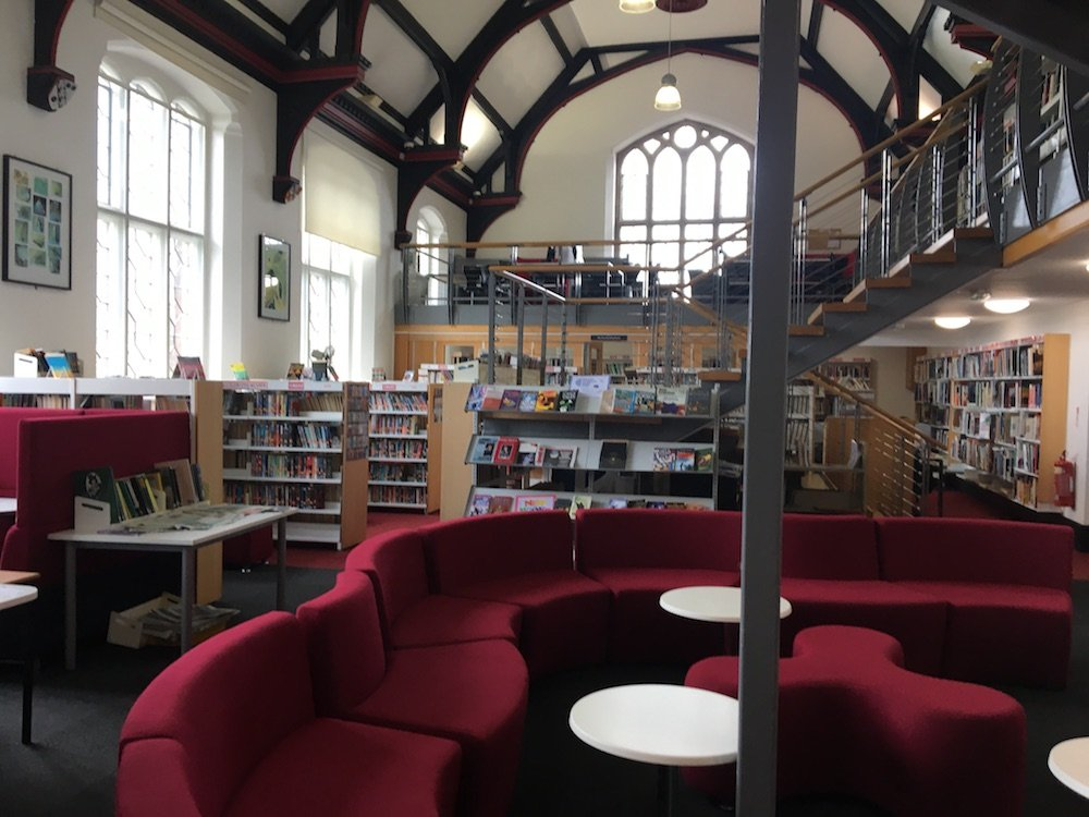 interior school library