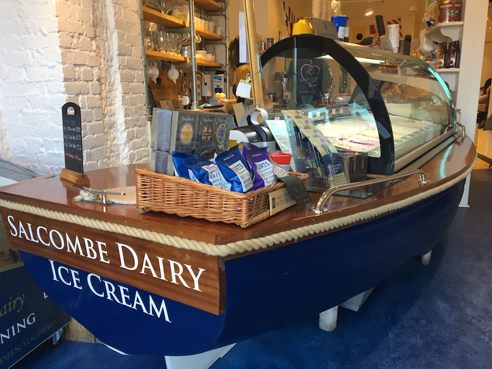 salcombe dairy ice cream counter