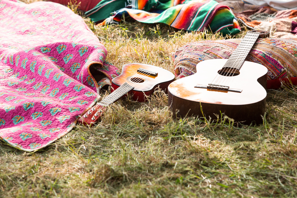 guitars on grass