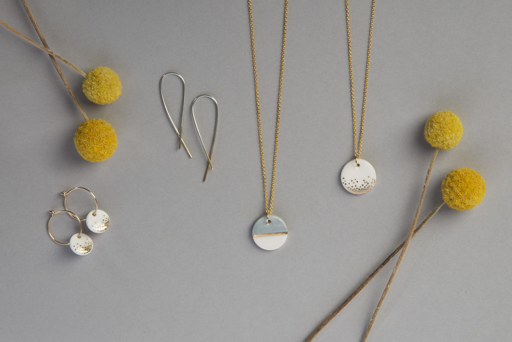 gold porcelain jewellery