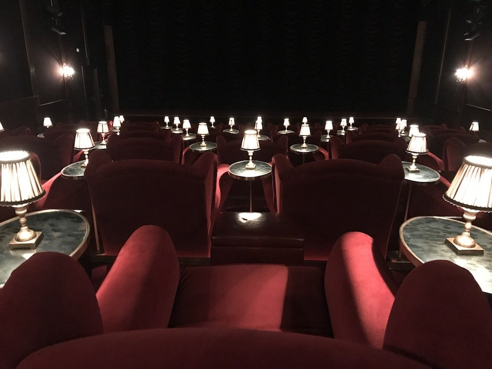 vintage cinema red velvet chairs