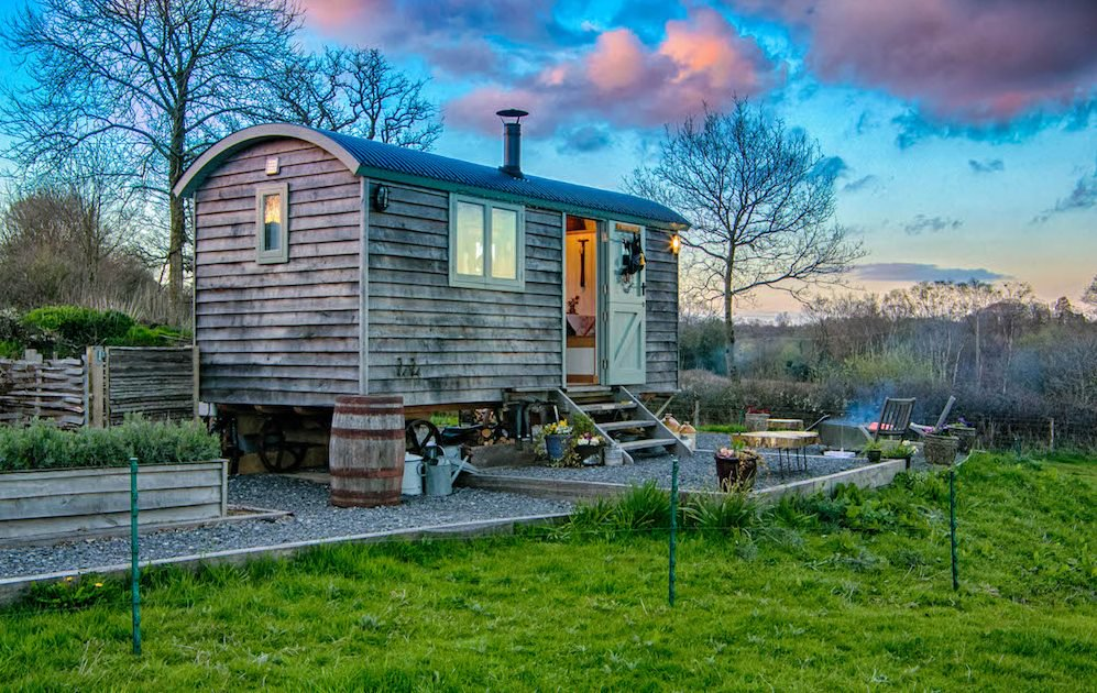shepherds hut exterior