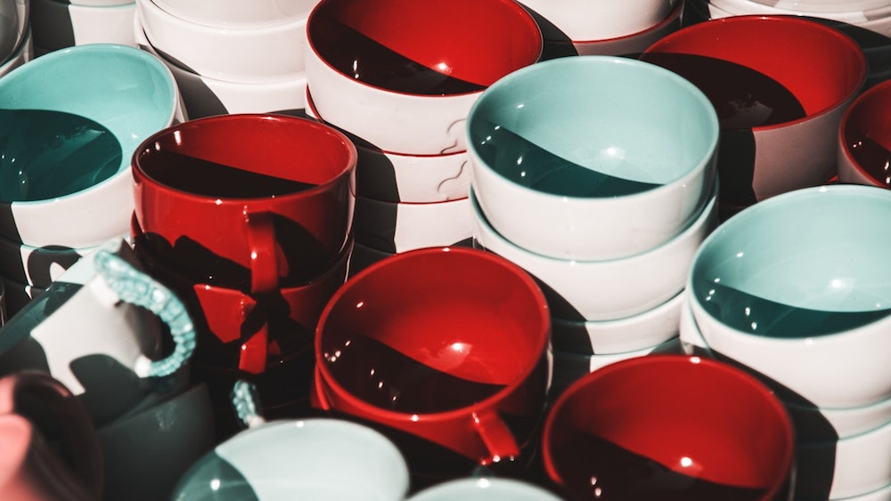 colourful ceramic bowls