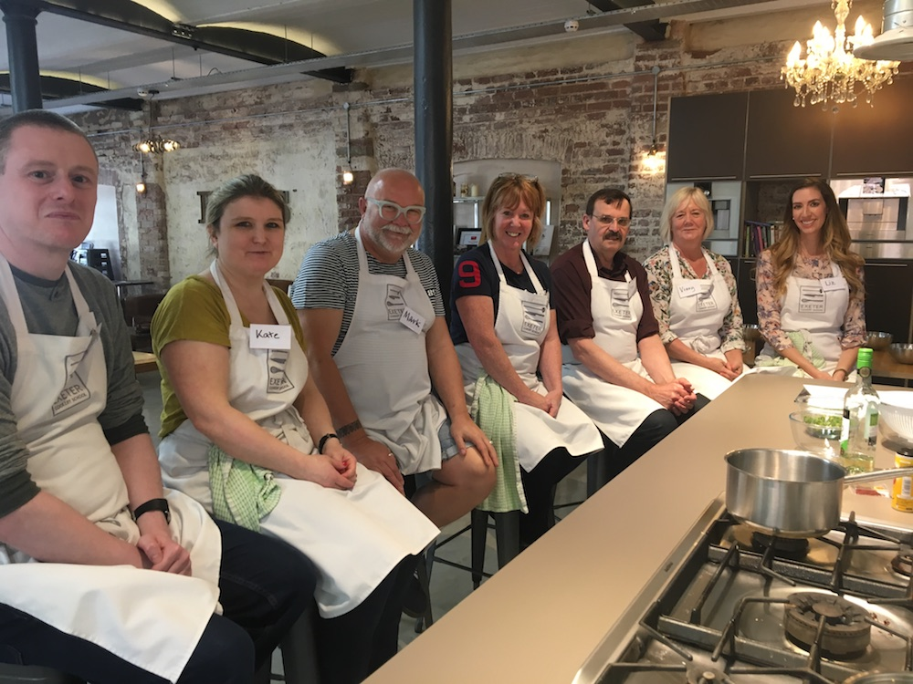 group with aprons on