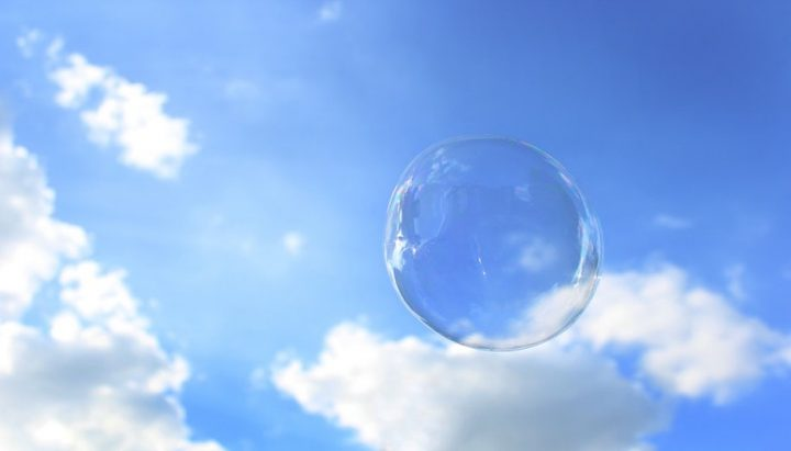 bubble blue sky