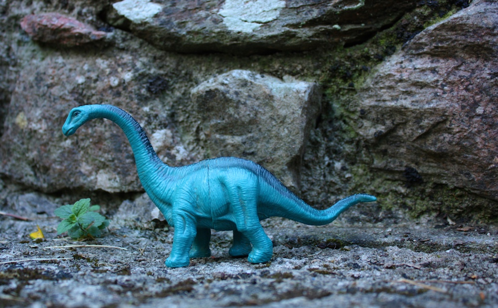 blue dinosaur figure