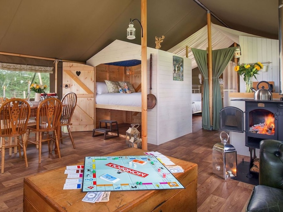 interior safari tent