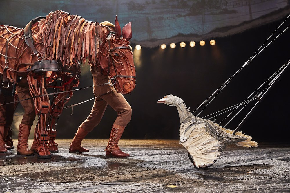 horse and duck on stage