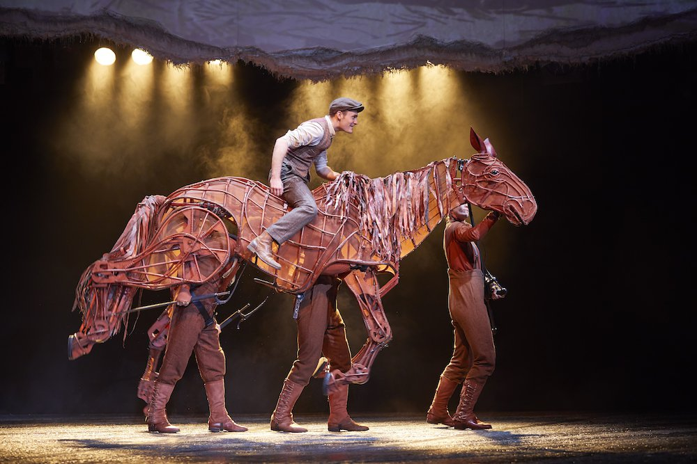 horse and man on stage