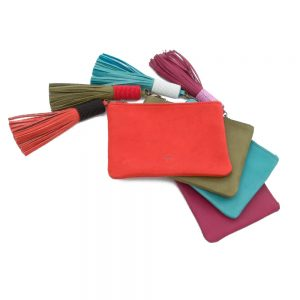 coloured bags with tassels