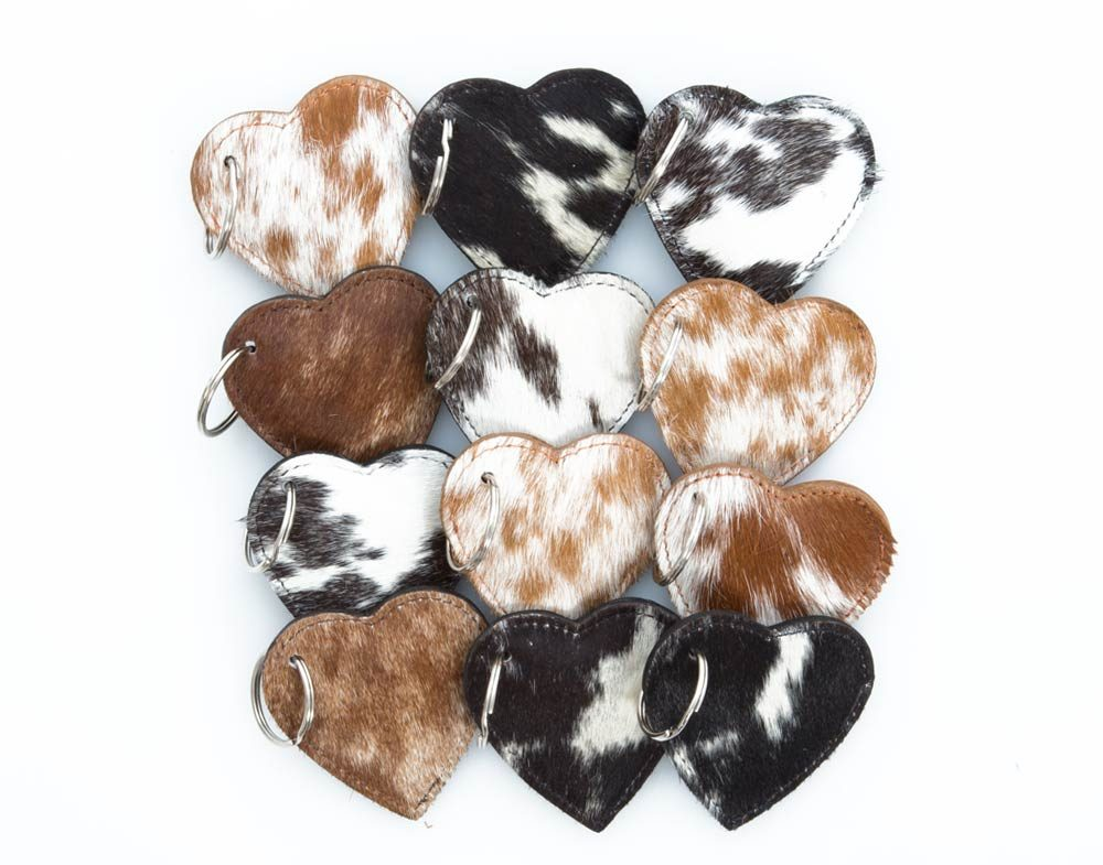 cowhide key rings