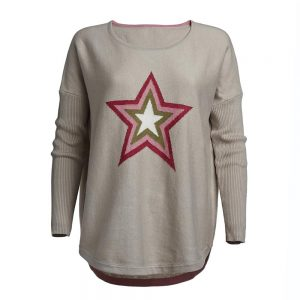 jumper with star print