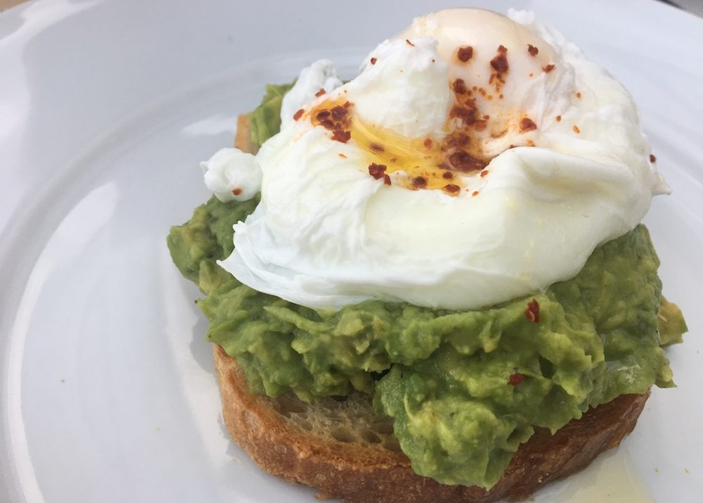 avocado poached eggs toast